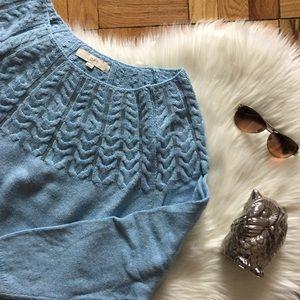 LOFT Blue Sequin Detail Sweater